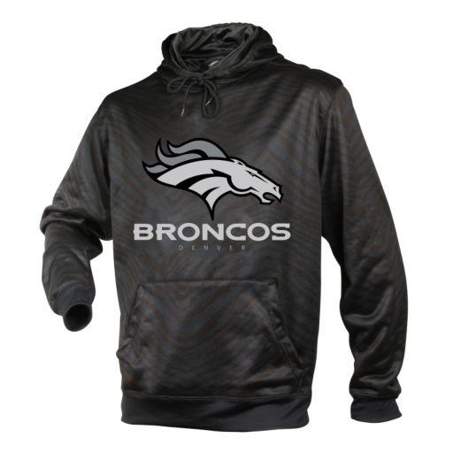 Men's Zubaz Denver Broncos Black Tonal Stripe Hoodie