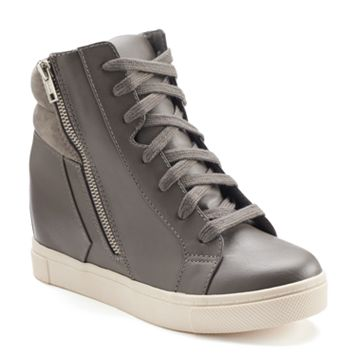 SO® Women's Hidden Wedge High-Top Sneakers