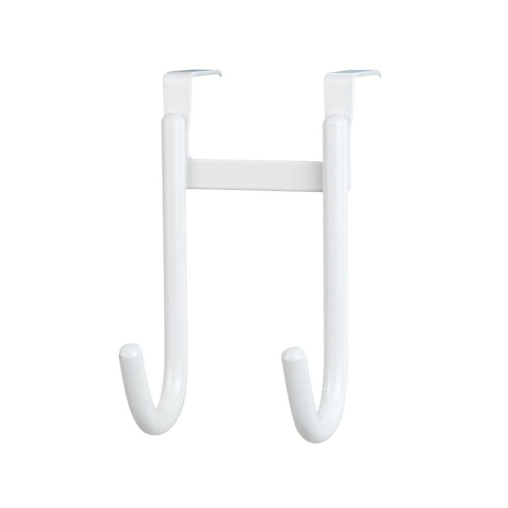 Home Basics Steel White Double Hook