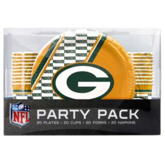 Green Bay Packers 20-Place Setting Party Pack