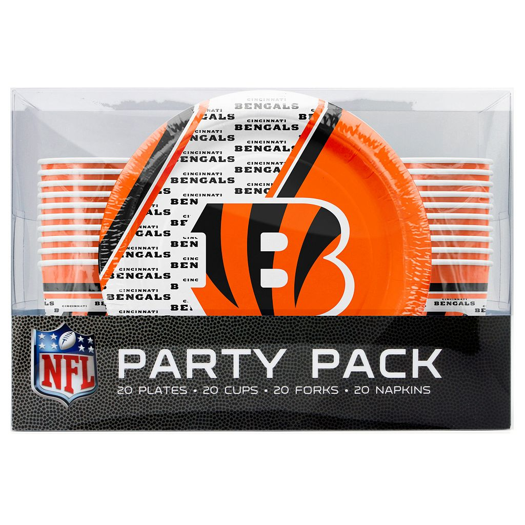 Cincinnati Bengals 20-Place Setting Party Pack