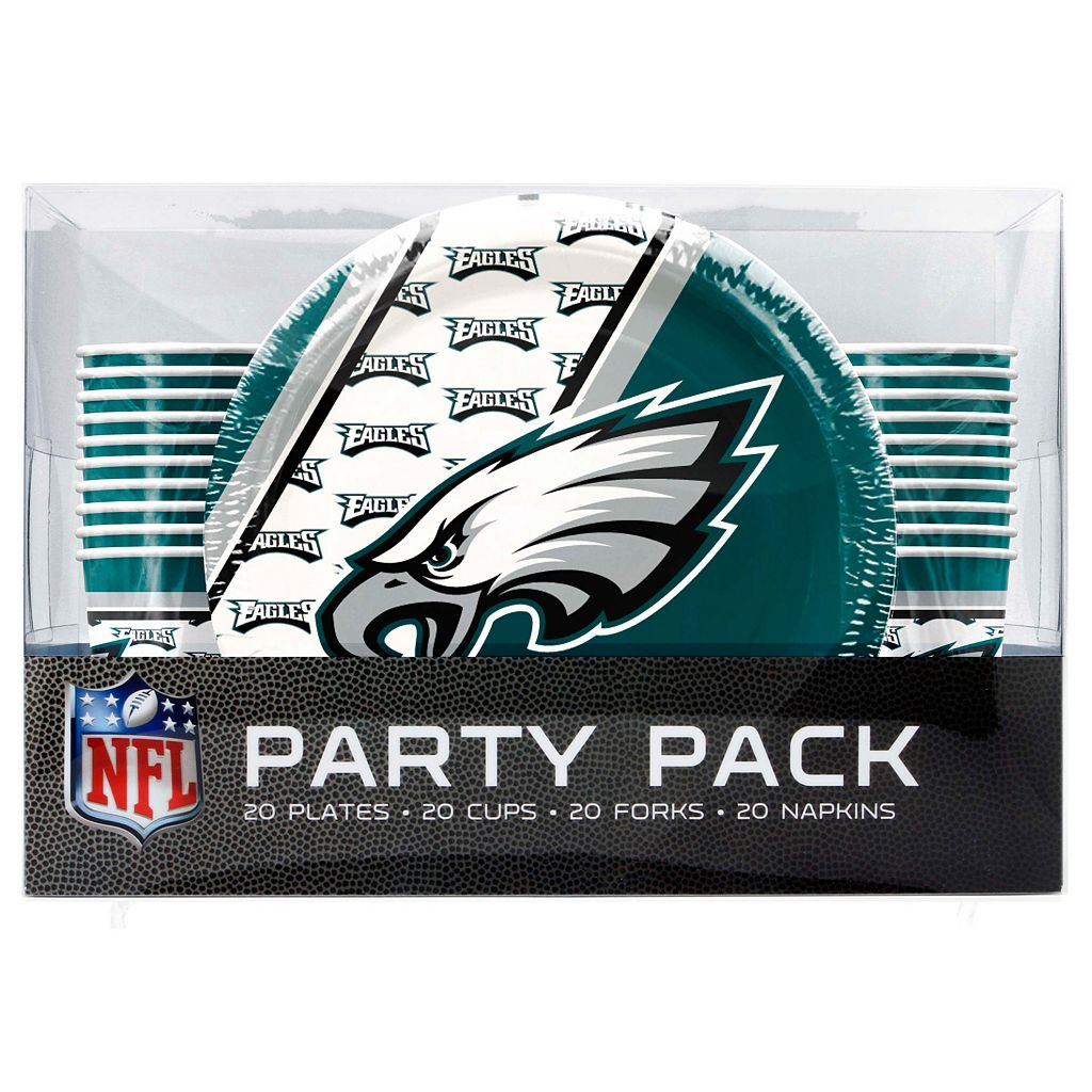 Philadelphia Eagles 20-Place Setting Party Pack
