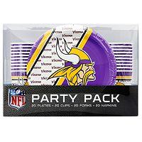 Minnesota Vikings 20-Place Setting Party Pack