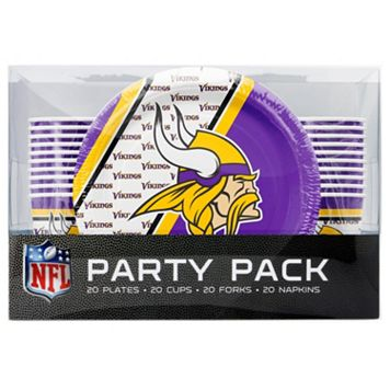 Minnesota Vikings 20-Place Setting Party Pack