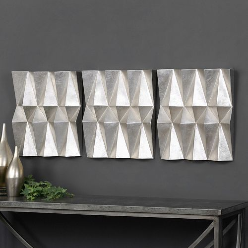 Maxton Geometric Metal Wall Decor 3-piece Set