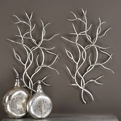 Metal Branch Wall Decor 2 pc Set