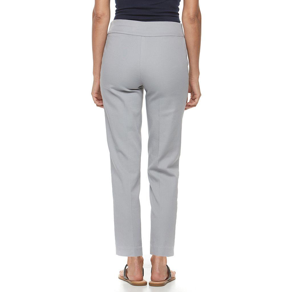 Petite Croft & Barrow® Polished Pull-On Ankle Pants