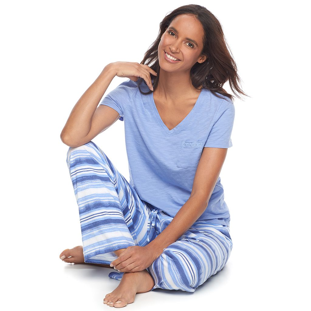 Women's SONOMA Goods for Life™ Pajamas: Dreamy Nights Tee & Pants PJ Set