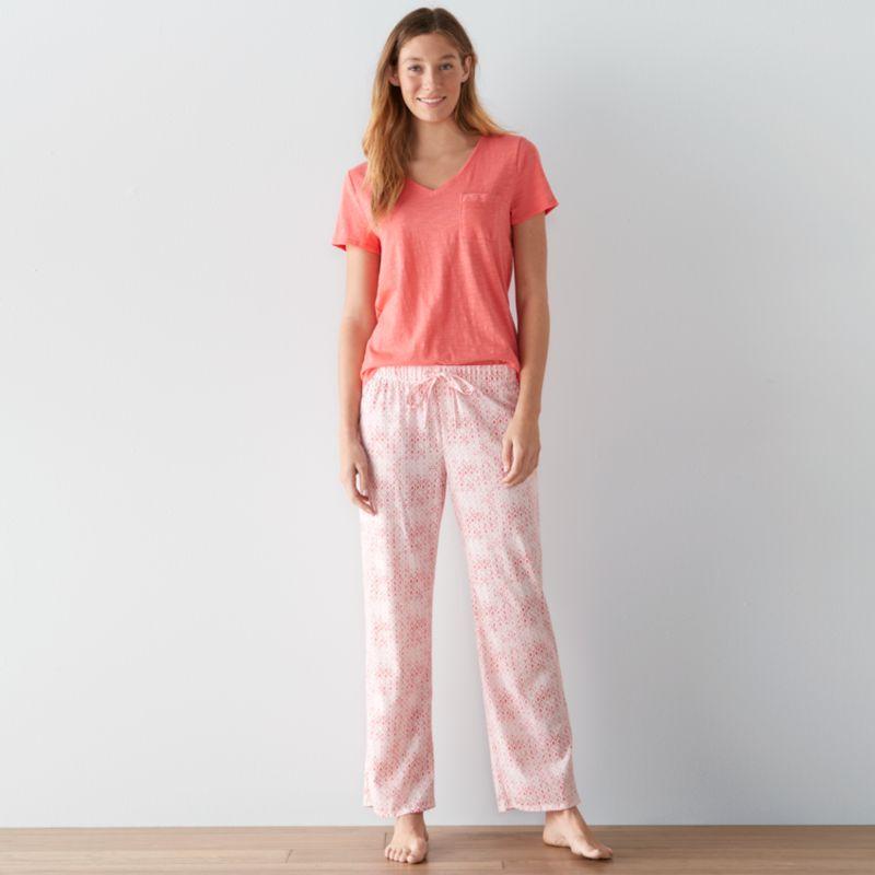 Chair Cushions Kohls Women's SONOMA Goods for Life™ Pajamas: Dreamy Nights Tee & Pants PJ ...