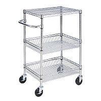 Honey-Can-Do 3 tier Chrome Rolling Cart