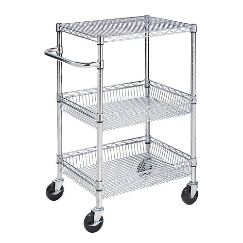 Honey-Can-Do 3-Tier Chrome Rolling Cart