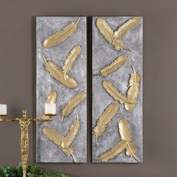 Falling Feathers Wall Decor 2-piece Set