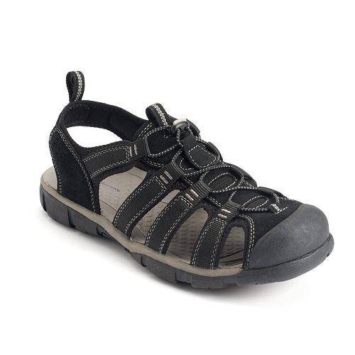 f78eb9daa60f Croft   Barrow® Men s Bungee Fisherman Sandals
