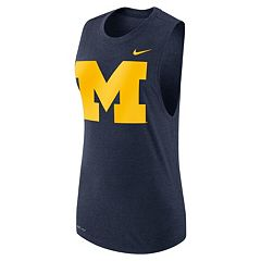 Women's Nike Michigan Wolverines Dri-FIT Muscle Tee