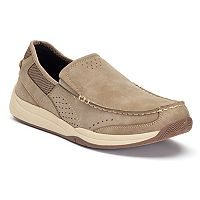 Croft & Barrow Arthur Men's Ortholite Slip-On Shoes (Stone / Navy)
