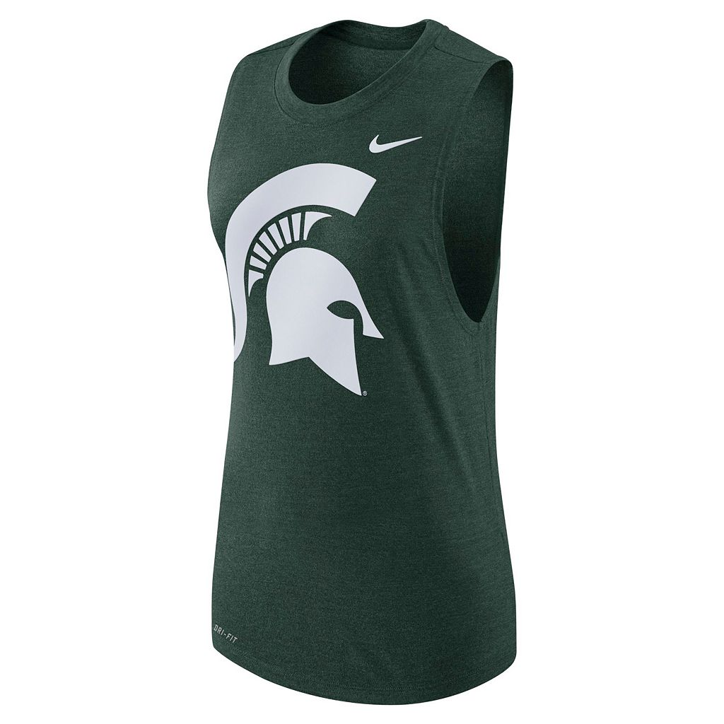 Women's Nike Michigan State Spartans Dri-FIT Muscle Tee
