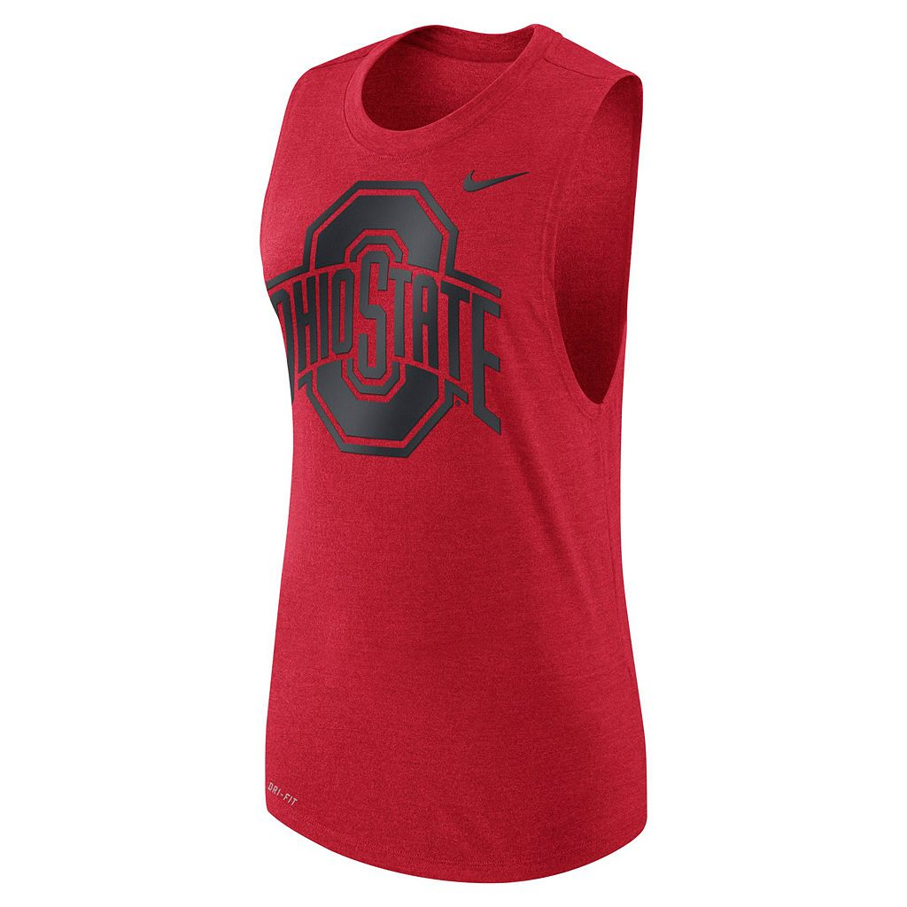 Women's Nike Ohio State Buckeyes Dri-FIT Muscle Tee