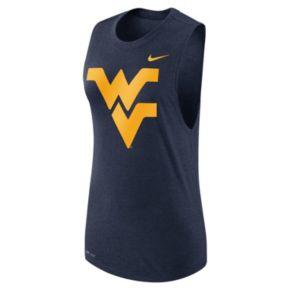 Women's Nike West Virginia Mountaineers Dri-FIT Muscle Tee