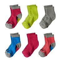 Baby Girl Stride Rite 6-pk. Steph Crew Socks