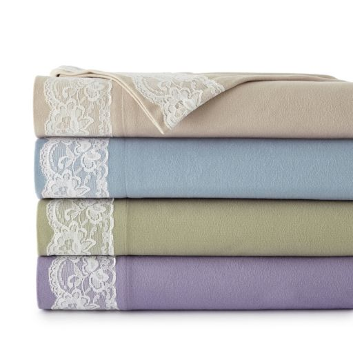 Micro Flannel® Lace Edged Sheet Set