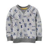 Boys 4-8 Carter's Gray Sports Fan Printed Pullover Top
