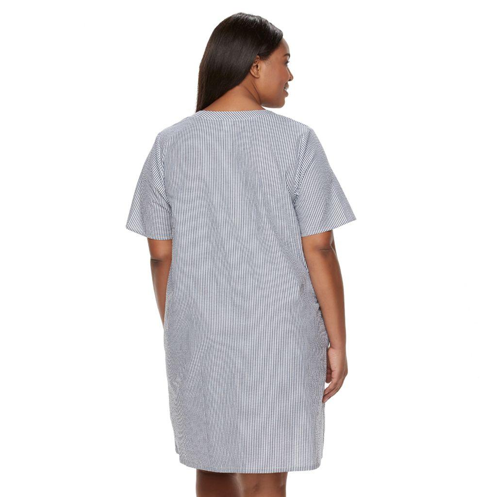Plus SizeCroft & Barrow® Essentials Zip Duster Robe