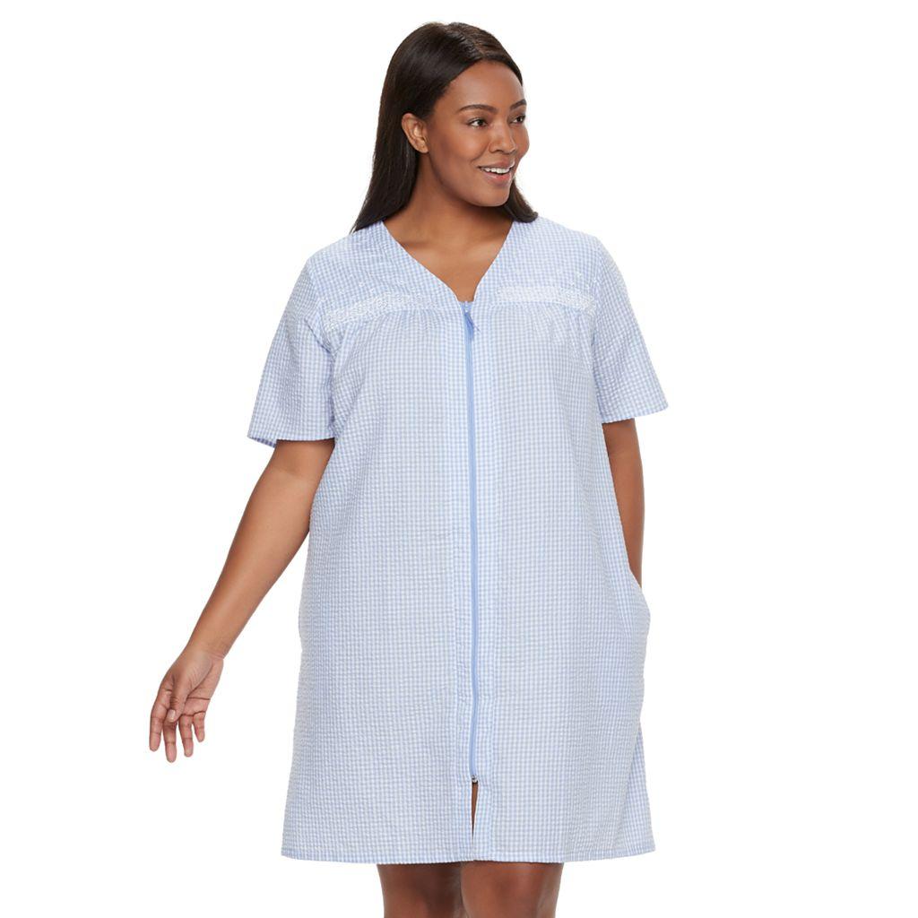 Plus Size Croft & Barrow® Essentials Zip Duster Robe