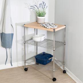 Honey-Can-Do Chrome Utility Cart
