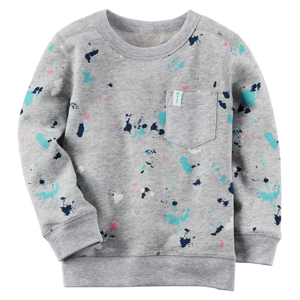 Boys 4-8 Carter's French Terry Paint Splatter Pullover