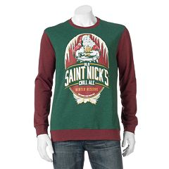 Men's 'Saint Nick's Whiskey' Fleece Pullover