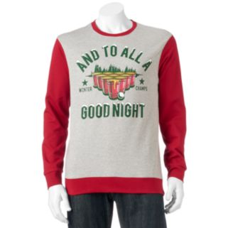 """Men's """"And To All A Good Night"""" Fleece Pullover"""