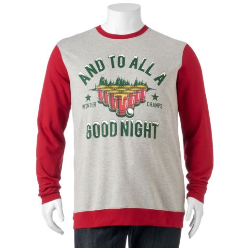 "Big & Tall ""And To All A Good Night"" Fleece Pullover"