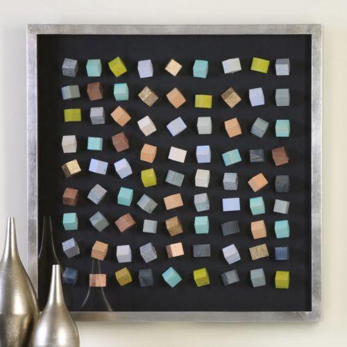 Colored Blocks Shadow Box Wall Decor
