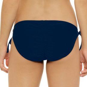 Juniors' Hot Water Solid Strappy Bikini Bottoms