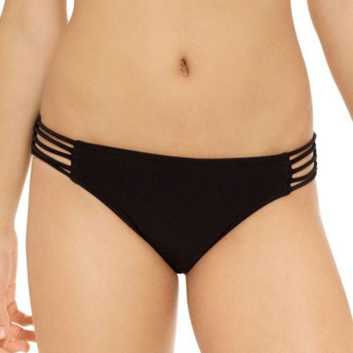 Juniors' Hot Water Strappy Hipster Bikini Bottoms