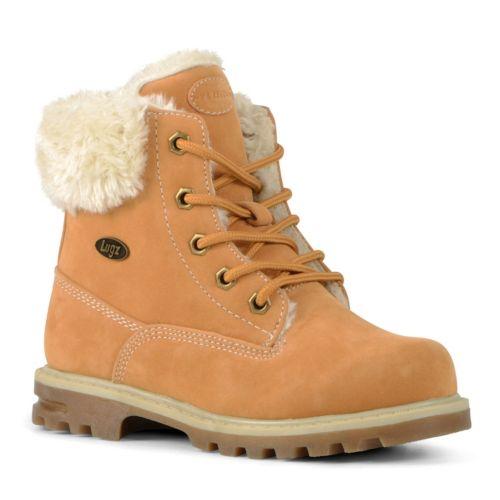 Lugz Empire Hi Faux-Fur Preschool Kids' Water-Resistant Boots