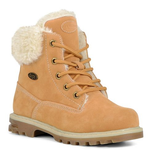 Lugz Empire Hi Faux-Fur Grade School Kids' Water-Resistant Boots
