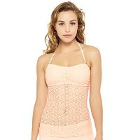 Juniors' Hot Water Crochet Bandeaukini Top