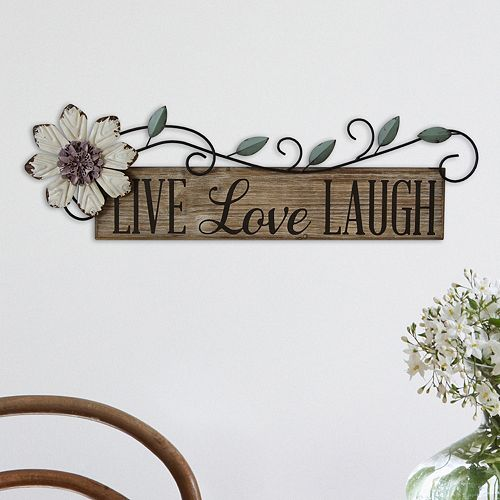 stratton home decor live love laugh wall decor. Black Bedroom Furniture Sets. Home Design Ideas