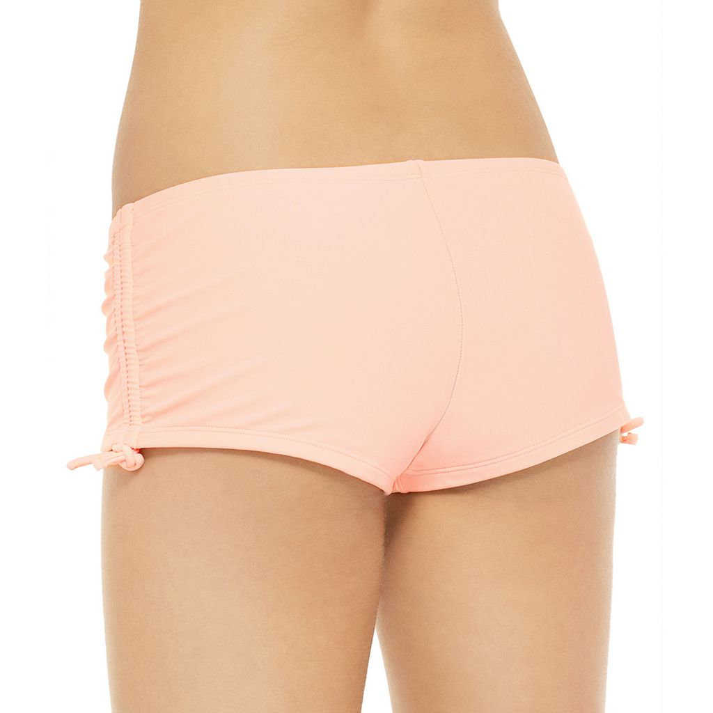 Juniors' Hot Water Solid Boyshort Bottoms