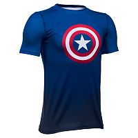 Boys 8-20 Under Armour Marvel Captain America Tee