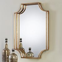 Lindee Geometric Open Frame Wall Mirror