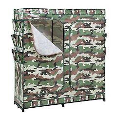 Honey-Can-Do Camouflage Double Door Storage Closet