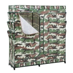 Honey-Can-Do Camouflage Double Door Storage Closet