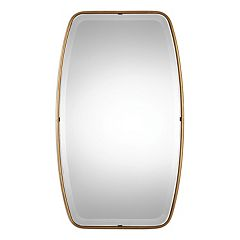 Canillo Gold Finish Round Wall Mirror