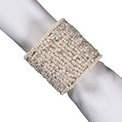 KAF HOME Beaded Band Napkin Ring 8-pk.