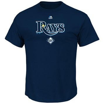 Men's Majestic Tampa Bay Rays Series Sweep Tee