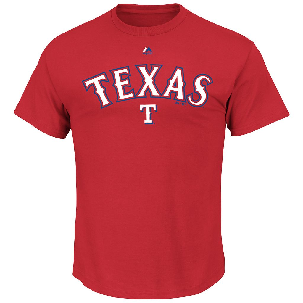 Men's Majestic Texas Rangers Series Sweep Tee