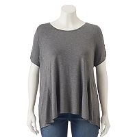 Plus Size Apt. 9® Cold-Shoulder A-Line Tee