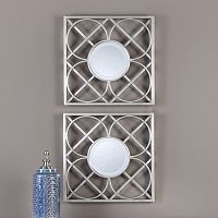 Yasmina Square Geometric Wall Mirror 2-piece Set